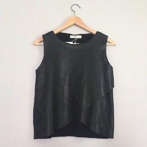 Zara leather wrap top NWT